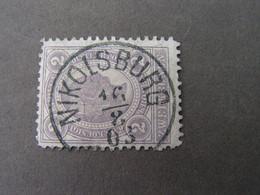 Mukulov , Südmähren  Nikolsburg  Super Stempel 1903 - Usados