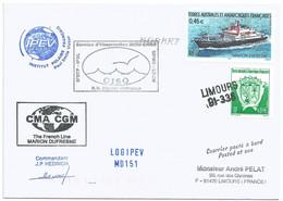 YT 330 Navire Ravitailleur Marion Dufresne - Posté à Bord - Escale à Hobart - Juin 2006 - Covers & Documents