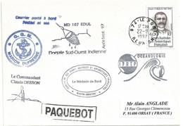 YT 217 Jean Turquet - Posté à Bord Du MD - Le Port - La Réunion - 22/09/1997 - Lettres & Documents