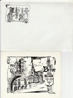 Enveloppe + Carte 2 Volets / Brive - Brive La Gaillarde