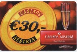 Casino S Austria €30,- Jeton - Cartes De Casino