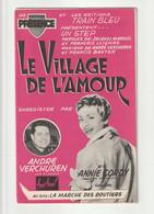 ANNIE CORDY ANDRE VERCHUREN Partition LE VILLAGE DE L'AMOUR - Scores & Partitions
