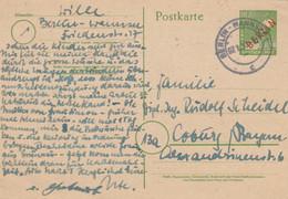 1950: Ganzsache Berlin- Wannsee Nach Coburg, P3 - Unclassified