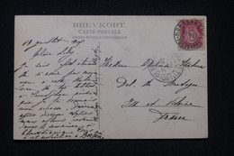 NORVÈGE - Oblitération De Nordbanerne Sur Carte Postale En 1905 Pour La France -  L 97712 - Covers & Documents