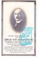 DP Foto - Werkgeleider / Conducteur Binnengoederen Bestuur COO - Emile Vanden Berghe ° Brugge 1878 † 1928 X Gabr. Hotton - Images Religieuses