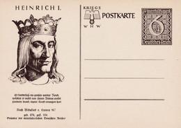 Carte Entier Postal Ganzsache Postkarte Henrich I. - Stamped Stationery