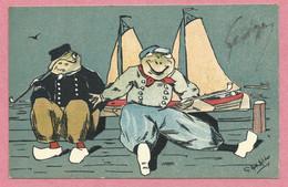 Carte Signée - G. HOW-HILDER - Grenouilles Humoristiques - Bateau - Unclassified