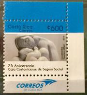 COSTA RICA 2016 MNH STAMP ON 75 ANNIVERSARY CAJA COSTARRICENSE DE SEGURO SOCIAL - Costa Rica