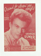 GEORGES ULMER Partition QUAND JE CLAQU' DES DOIGTS EDITIONS M. SELMER - Scores & Partitions