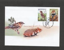 2021 Belarus №1412-1413 FDC EUROPE Endangered Species Of Wildlife. Hamster. Bird. Fauna - Unclassified