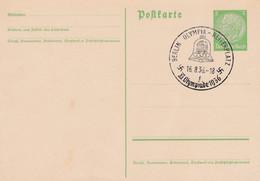 Carte Entier Postal Ganzsache Postkarte Berlin Olympia Reiterplatz Jeux Olympiques 1936 - Stamped Stationery