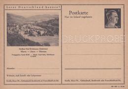 Carte Entier Postal Ganzsache Postkarte Druckprobe Heilbad Bad Brückenau Südrhön - Stamped Stationery