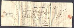 1829 PREFILATELIA LETTERA DA VIGEVANO - CASSOLNOVO -  A PARMA CON TASSAZIONI - 1. ...-1850 Prefilatelia