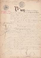 VP 2 FEUILLES - 1862 - VENTE - VERDUN - HAUCOURT - MALANCOURS - VARENNES - RAUDAINVILLE - VIERZON - Manuscritos