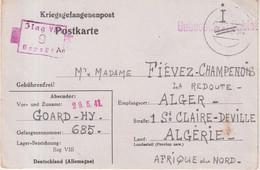 "FRANCE : GUERRE . CP . D'UN PG . INTERNE CIVIL . "" ILAG VIII "" . 1941 . - Oorlog 1939-45"