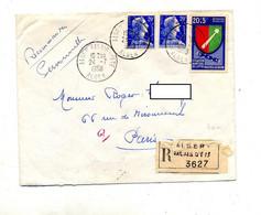 Lettre Recommandée Alger Sur Muller Fondation De Lattre - Algérie (1962-...)