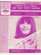 SANDIE SHAW Partition UN TOUT PETIT PANTIN Paroles PIERRE DELANOE En 1967 - Scores & Partitions