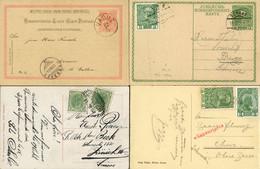 Schönes Pöstchen 4 Saubere Belege Gut Erhalten: 1) Pk 18 1893 V. Vaduz Nach Azmoos SG, 2) A Mi 178 Mit FL 1x Als Länder- - ...-1912 Prephilately