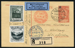 Gutes Kl. Lot 6 Seltene Flüge In Guter Erhaltung: LBK Nummern 39b (SLH 32.7hL), 48b, 48f, 2x 56Bb, U. 71, LBK Ca.4200.-1 - Air Post