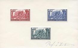 SPEZIALITÄTEN: Interessanter Posten Mit 1) Autographen: Prof. E. Zotow, Entwerfer Von LBK 144/46 1939; Hans-Adam U. M. K - Collections