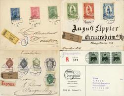 Vielfältiges Lot 55 Belege - Bedarfs- Und Sammlerpost,  U.a. 1y-3y Satzbrief, Kronenwährungsbelege, FDCs, Sammlerbriefe  - Collections