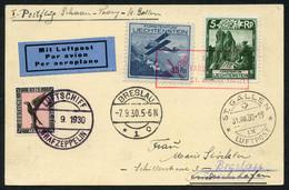Sauberer Posten 50 Belege/FDCs, Inkl. Ganzsachen, Flugpost, Etc., Dabei Seltene Flugkarte Vaduz-St.Gallen 1930 U. Dann A - Collections