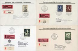 Schöner Posten Bessere Ersttagsbriefe Ab 1929 Mengen Von 1-3x (meistens 3x), Dabei Fürstenpaar 1951, 5-Franken Schloss V - Collections