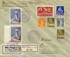 Starkes Lot 74 Flugpostbelege Inkl. Zeppelin U. Ballon, Dabei Erst-, Sonder- U. Rückflüge, 7 Belege Liechtenstein, Gute  - First Flight Covers