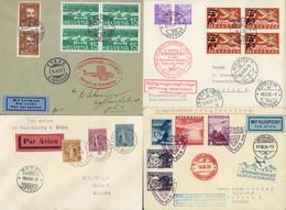 Reichhaltiger Posten 65 Flugbelege Ab 1919, Mit Besseren Erst- U. Sonderflügen, Afrikaflüge Mittelholzer, Div. SF Mit Fl - First Flight Covers