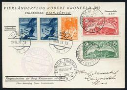 Kl. Lot 6 Bessere Belege, Dabei Basel-Lausanne 30.V.27, Mischfrankatur Österreich-San Marino Auf Kronfeldflug 1933 Wien- - First Flight Covers