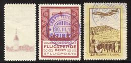 Lot Mit 2x Nr. I Mit Abklatsch Rückseitig, Nr. III Gestempelt, Nr. VIII Gestempelt Und * (Bug Und Falzhell, Befund V.d.W - Unused Stamps