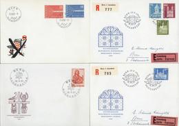 Kleines Pöstchen FDC, Wobei 332/33 Dt Und Zudem Auf Faltblatt Fz (dieses Nicht Gerechnet), 355/72 Auf 9 FDC Verteilt, K4 - FDC