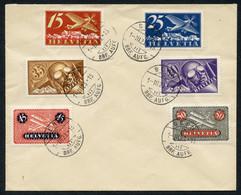 Flugpostmarken 15/50Rp Nrn. 3 U. 5-9 Zusammen Auf Sauberem Briefumschlag Gestempelt BERN 1.III.23, Fehlerfreie Erhaltung - FDC