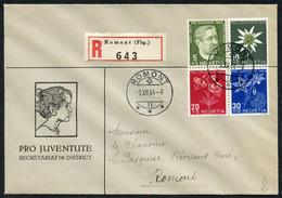 Pöstchen 6 Sehr Saubere Ersttagsbriefe: Juventute 1944 U. 2x1946 Mit Stempel Romont FR (sign. Marchand) U. 1948 Franz.,  - FDC