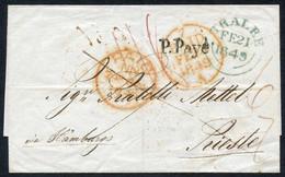 Sauberer Vorphilabrief Von TRALEE (kl. Stadt In Irland) über Hamburg Transeuropa Nach Triest18490 - Unclassified