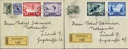 FIS I Kompletter Satz Auf 2 Kleinen R-Briefen In Die Schweiz Gelaufen, Je Mit Sonderstempel, Mi 551-5541933 (2)0 - Cartas