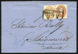 Lot 8 Belege Ab 1. Ausgabe, 3 Davon In Die Schweiz Gelaufen U.a. Dabei MiF Ausgabe 1858/1863,  Dazu Ca. 90 Zeitungsstemp - Cartas