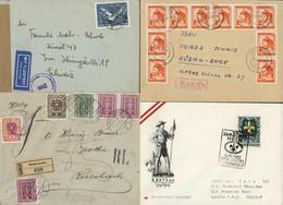 Vielfältigers Lot 180 Belege Ab Blauer Merkur Mit Inflation Deutschösterreich, Rayon Limitrophe, Anschluss, Ganzsachen,  - Cartas