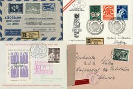 Vielseitiger Posten Knapp 650 Belege, Dabei Hochwertige Flugpostfrankaturen (Bedarf), Sonder- Und Erstflugspost, Sowie A - Colecciones