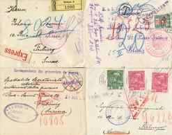Sammlung Mit 45 Belegen An Diverse Hilfsbüros, U.a. Fribourg, Genf, Bern Etc. überwiegend Mit Marken Frankiert; Dazu 92  - Colecciones