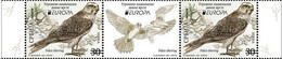 SERBIA 2021,NEW 12.05,EUROPA CEPT,ENDANGERED NATIONAL WILDLIFE,FAUNA,BIRDS,SAKER FALCON,SHORE LARK,VIGNETTE, MNH - Eagles & Birds Of Prey