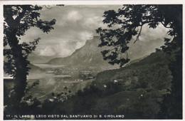 VERCURAGO (LECCO) CARTOLINA - IL LAGO DI LECCO VISTO DAL SANTUARIO DI S. GIROLAMO - VIAGGIATA PER BERGAMO - Lecco