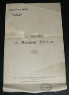 """Rare Ancienne Chanson Avec Paroles, """"Le Sacrifice De Monsieur Pelletan"""", Fernand Dhervil - Scores & Partitions"""
