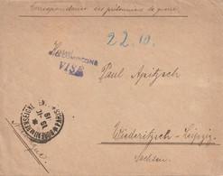 WW1 Prisonniers De Guerre  OD COMPIEGNE VISE. Tad Paris*Bureau De Renseignement* 1919 Pour Leipzig. POW Censure - WW I