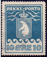 Groenland 1915 10öre Pakketporto Thiele II Perf 11¼x11¼ GB-USED - Gebraucht