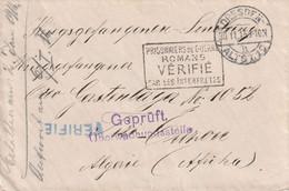 WW1 Prisonniers De Guerre De Desden Pour Tizi OUZOU ( Algérie )  VERIFIE ROMANS + VERIFIE Bleu. Double Censure. POW - WW I