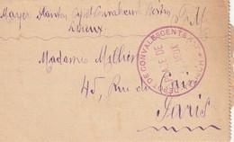WW1 HOPITAL DEPOT DE CONVALESCENTSPLACE DE LISIEUX Pour Paris . 1915 - WW I