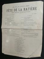 """Rare Chansonnette D'Albert Lecomte Avec Paroles, """"Gais Propos"""", Doc Pour La Fête De La Ratière 1939, Romorantin 41 - Scores & Partitions"""