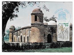 3 AD  - CARTE MAXIMUN 1er JOUR Du TP - MOSQUÉE DE BAGERHAT - BANGLADESH  - 1986 - Bangladesh