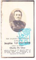 DP Foto - Josephine Van Poelvoorde ° Brugge 1847 † Blankenberge 1926 X Charles De Ghey - Images Religieuses